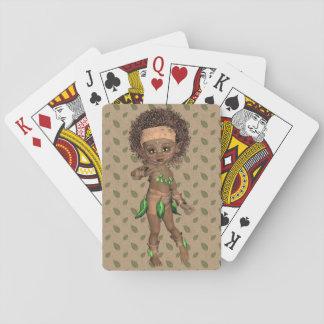 Afrikanisches Mädchen-Spielkarten Spielkarten
