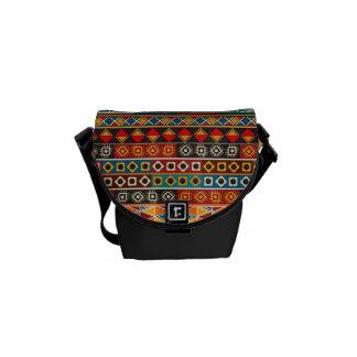 Afrikanisches Motiv-buntes dekoratives Muster Kurier Taschen