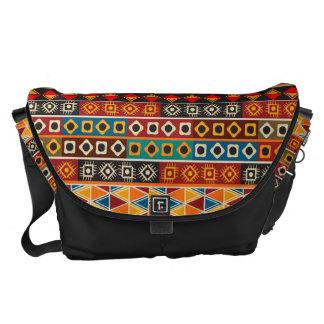 Afrikanisches Motiv-buntes dekoratives Muster Kuriertasche