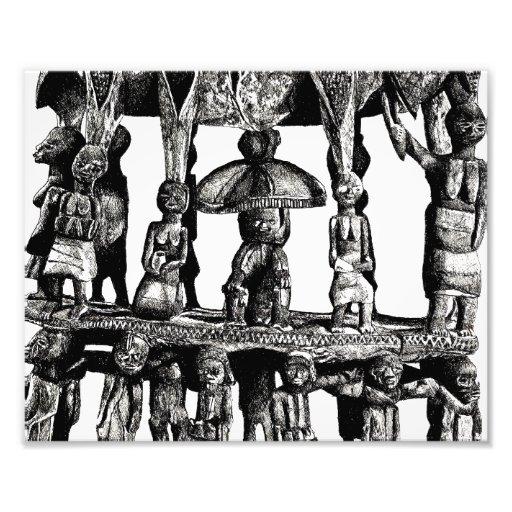 Afrikanisches Stammes- Photodruck