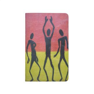 Afrikanisches Tanz-Anmerkungs-Buch Taschennotizbuch