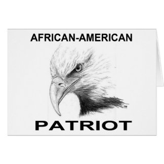 Afro-amerikanischer Patriot Karte