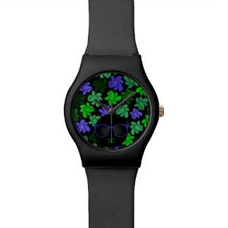 Afro-Diva-grüne u. blaue Uhr