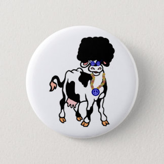 Afro-Kuh Runder Button 5,7 Cm