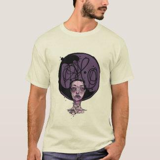 Afro-lila Mädchen T-Shirt