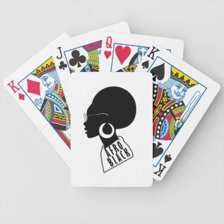 AFROAfroamerikaner-Schwarzgeschenkt-shirt Bicycle Spielkarten