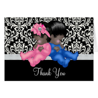 Afroamerikaner-Babyparty danken Ihnen Karte