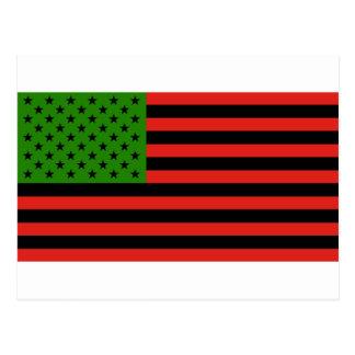 Afroamerikaner-Flagge - rotes Schwarzes und grün Postkarte