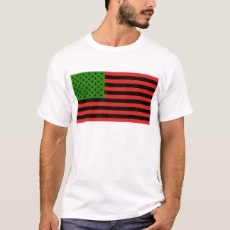 Afroamerikaner-Flagge - rotes Schwarzes und grün T-Shirt