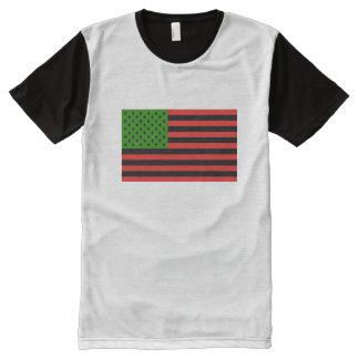 Afroamerikaner-Flagge - rotes Schwarzes und grün T-Shirt Mit Bedruckbarer Vorderseite