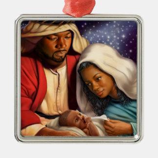 Afroamerikaner-heilige Silbernes Ornament
