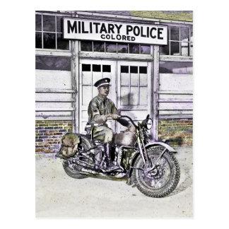 Afroamerikaner-Militärpolizist WWII Postkarte