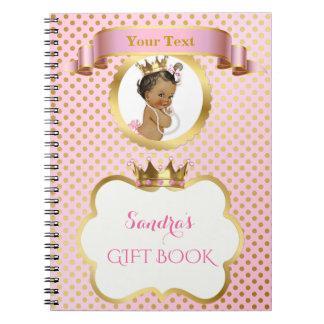 Afroamerikaner-Prinzessin Pink Gold Gift Guest Spiral Notizblock