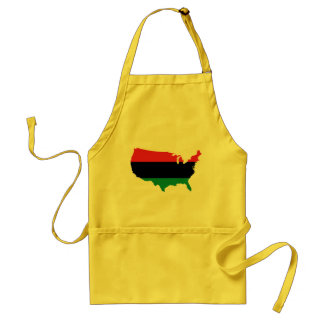 Afroamerikaner _rote, schwarze u. grüne Farben Schürze