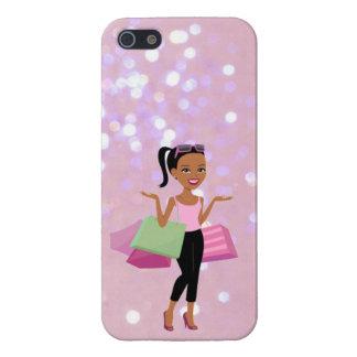 Afroamerikanereinkaufsfrau iphone Fall Etui Fürs iPhone 5