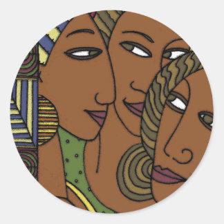Afroamerikanerfrauen-Schwesterfreunde Runder Aufkleber