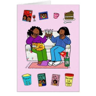Afroe-amerikanisch Freundinnen, Nacht in Karte