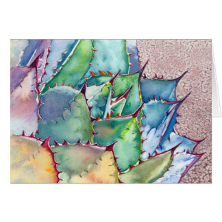 Agave Watercolorkarte durch Debra-Lee Baldwin Mitteilungskarte