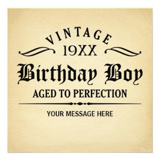 Âgé à l anniversaire drôle de perfection invitations personnalisées