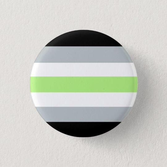 Agender Stolz-Knopf Runder Button 3,2 Cm