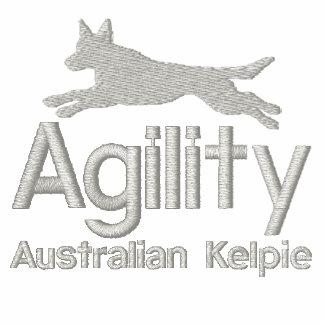 Agility-australischer Kelpie gesticktes Shirt
