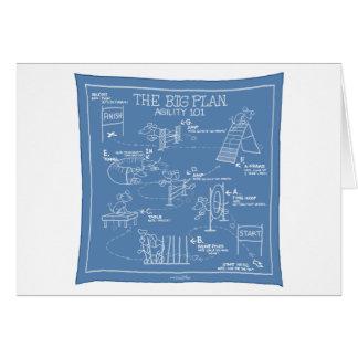 Agility-großer Plan - Stock-Hund Karte