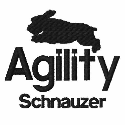 Agility-Schnauzer gesticktes Shirt
