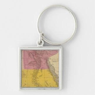 Ägypten 11 silberfarbener quadratischer schlüsselanhänger