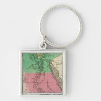 Ägypten 12 silberfarbener quadratischer schlüsselanhänger