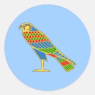 Ägypten Falke egypt falcon Runder Aufkleber