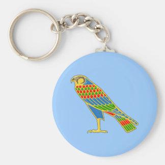 Ägypten Falke egypt falcon Standard Runder Schlüsselanhänger