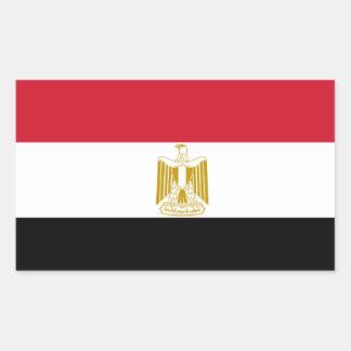 Ägypten-Flaggen-Aufkleber Rechteckiger Aufkleber
