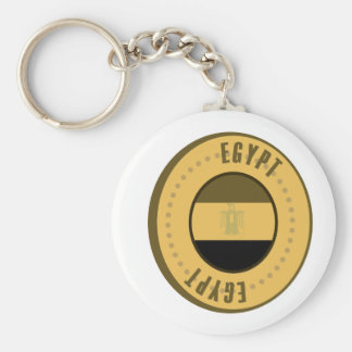 Ägypten-Flaggen-Goldmünze Standard Runder Schlüsselanhänger