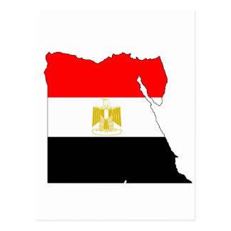 Ägypten-Flaggenkarte Postkarte