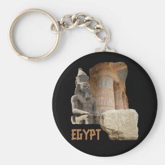 ÄGYPTEN-Fotocollage keychain Standard Runder Schlüsselanhänger