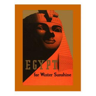 Ägypten für Winter-Sonnenschein-Vintage Reise Postkarte