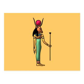 Ägypten Göttin Hathor egypt goddess Postkarte