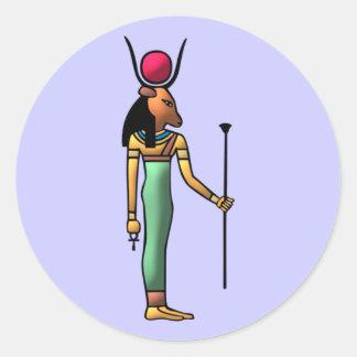 Ägypten Göttin Hathor egypt goddess Runder Aufkleber