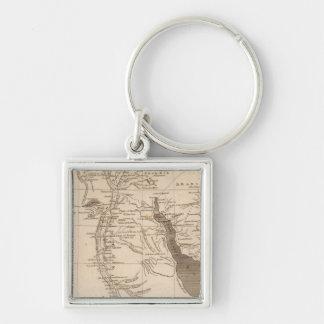 Ägypten-Karte durch Arrowsmith Silberfarbener Quadratischer Schlüsselanhänger