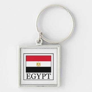 Ägypten keychain silberfarbener quadratischer schlüsselanhänger