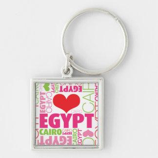 """Ägypten kleines (1,38"""") erstklassiges silberfarbener quadratischer schlüsselanhänger"""
