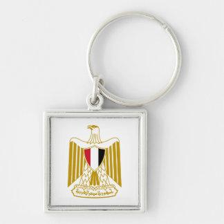 Ägypten-Wappen Keychain Silberfarbener Quadratischer Schlüsselanhänger