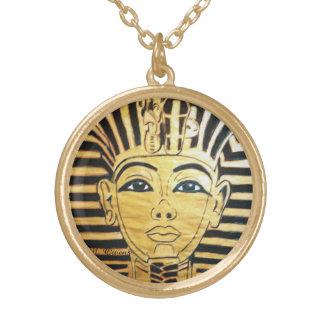 Ägyptische Art-runde Goldendhalskette Halskette Mit Rundem Anhänger