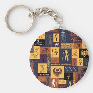 Ägyptische Collage Schlüsselanhänger