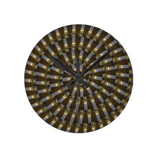 Ägyptische Prinzessin Abstract Spiral Pattern, Runde Wanduhr