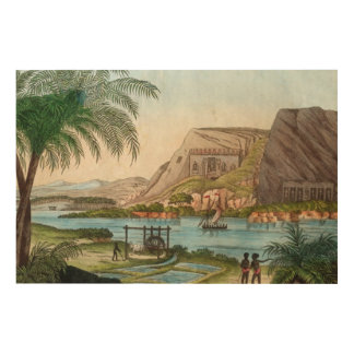 Ägyptische Vintage Kunst auf dem Nil