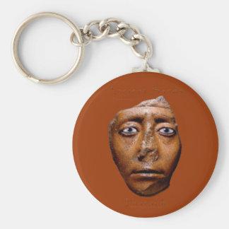 Ägyptischer Pharao-Gesichtsentwurf Standard Runder Schlüsselanhänger