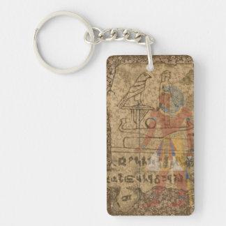 Ägyptisches hieroglyphisches schlüsselanhänger