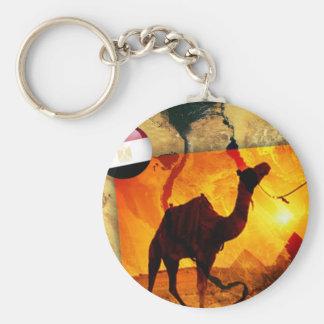 Ägyptisches Kamel Standard Runder Schlüsselanhänger