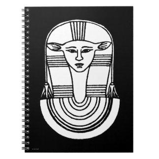Ägyptisches Symbol: Hathor Spiral Notizbücher